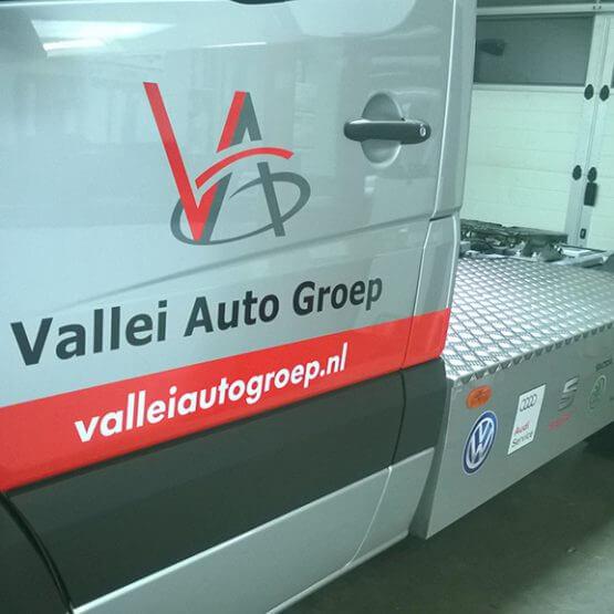 Autobelettering B-E combi, ValleiAutoGroep, Riko Reclame Ede