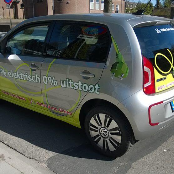 Autobelettering E-car, valleiautogroep, riko-ede.nl
