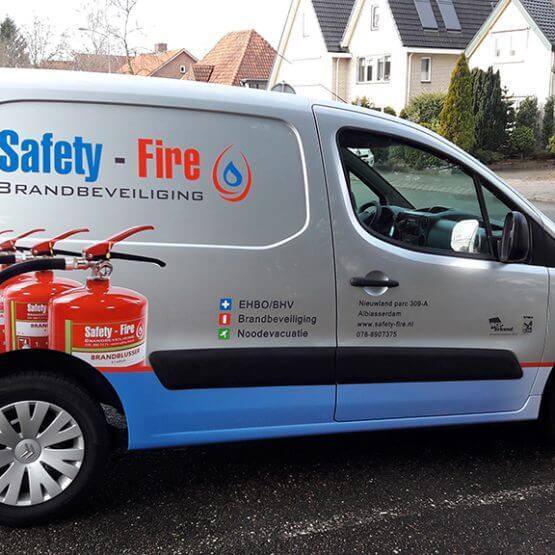 Autobelettering Safety-Fire.nl riko-ede.nl