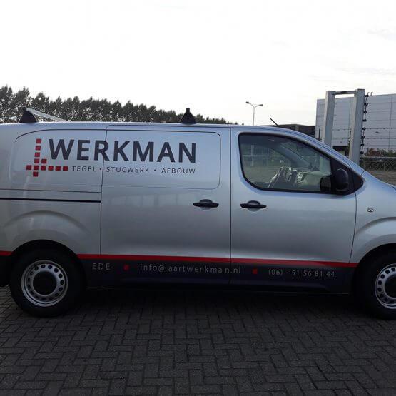 Autobelettering Werkman Ede. riko reclame