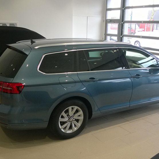 Blindering VW Passat, riko reclame ede