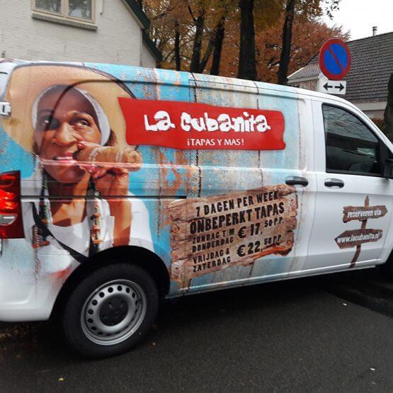 Full colour autobelettering, riko-ede.nl, La Cubanita.