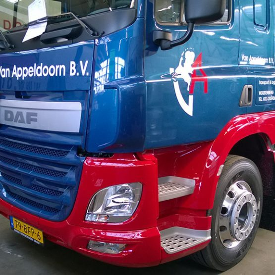 Vrachtwagen belettering Riko Reclame riko-ede.nl Gelderland